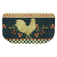 Bacova Retro Rooster Memory Foam Kitchen Rug - 18' x 30'
