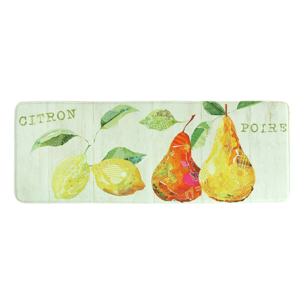 Bacova Citron Memory Foam Kitchen Rug