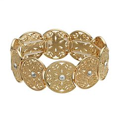LC Lauren Conrad Simulated Crystal Filigree Stretch Bracelet