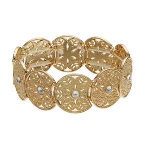 LC Lauren Conrad Simulated Crystal Filigree Stretch Bracelet