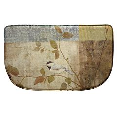Bacova Chickadee Collage Memory Foam Kitchen Rug - 18' x 30'