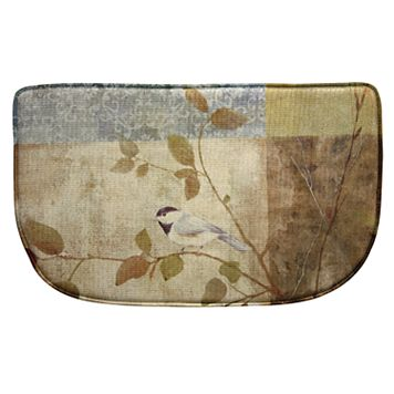 Bacova Chickadee Collage Memory Foam Kitchen Rug - 18