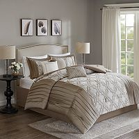 Madison Park Chrystal 7 pc Embroidered Comforter Set
