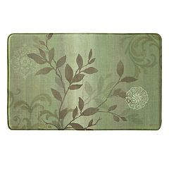 Bacova Branch Swirl Vintage Memory Foam Kitchen Rug