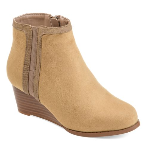 Journee Collection Padme ... Women's Wedge Ankle Boots