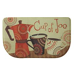 Bacova Cup of Joe Memory Foam Kitchen Rug - 18' x 30'