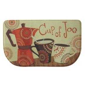 "Bacova Cup of Joe Memory Foam Kitchen Rug - 18"" x 30"""