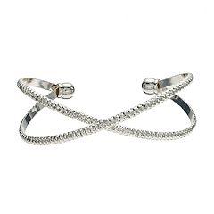 LC Lauren Conrad Textured X Cuff Bracelet