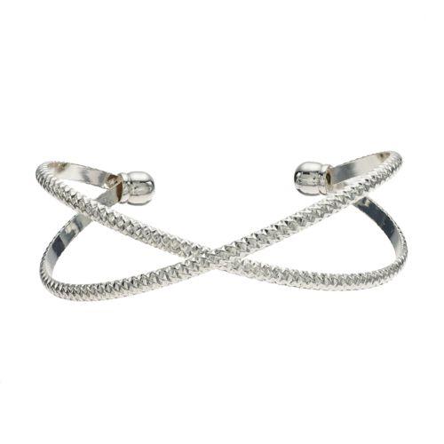 Lauren Conrad Textured X Cuff Bracelet