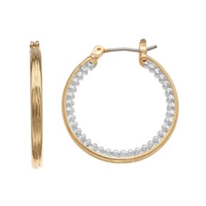 Napier Two Tone Hoop Earrings