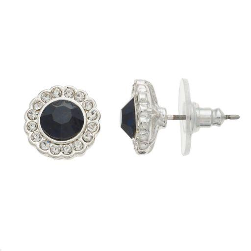 LC Lauren Conrad Navy Nickel Free Flower Stud Earring