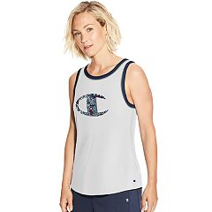 Women's Champion Heritage Ringer Logo Graphic Tank