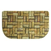 Bacova Wine Corks Memory Foam Kitchen Rug