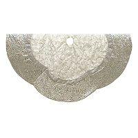 Kurt Adler Scalloped Silver Christmas Tree Skirt