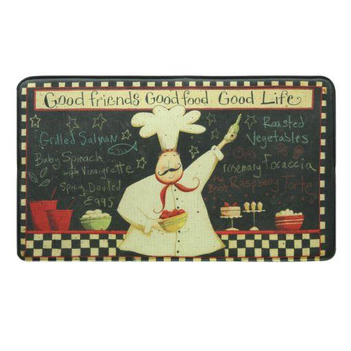 "Bacova Good Life Vintage Memory Foam Kitchen Rug - 18"" x 22"""