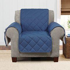 Sure Fit Denim Sherpa Fleece Chair Slipcover