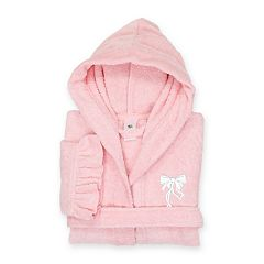 Kids Linum Home Textiles Two-Tone Terry Ruffled Hooded Bathrobe