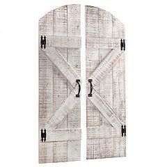 Wood Farmhouse Door Wall Decor 2-piece Set