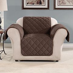 Sure Fit Microfleece Non-Slip Chair Slipcover