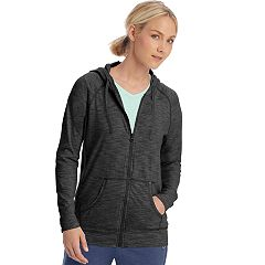Women's Champion Heathered Jersey Zip-Up Jacket