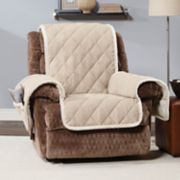 Sure Fit Soft Suede & Sherpa Fleece Reversible Recliner Slipcover