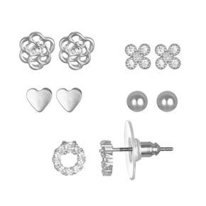 LC Lauren Conrad Cubic Zirconia Nickel Free Stud Earring Set