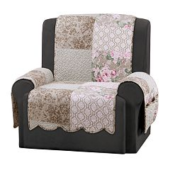 Sure Fit Heirloom English Rose Recliner Slipcover