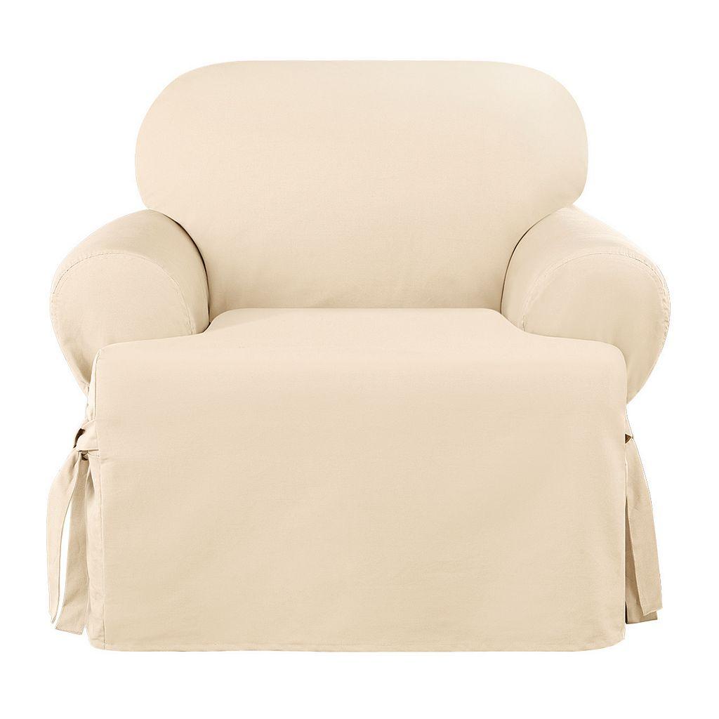 Sure Fit Sailcloth T-Cushion Chair Slipcover
