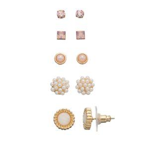 LC Lauren Conrad Nickel Free Stud Earring Set
