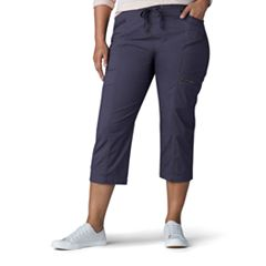 Plus Size Lee Margeaux Poplin Pull-On Capris