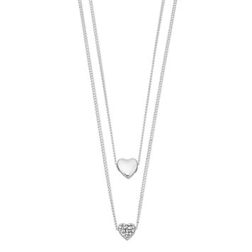 LC Lauren Conrad Layered Heart Necklace