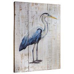 Seabird Heron I Weathered Wood Wall Decor