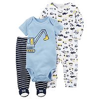Baby Boy Carter's Printed Bodysuit, Pants, & Sleep & Play Set