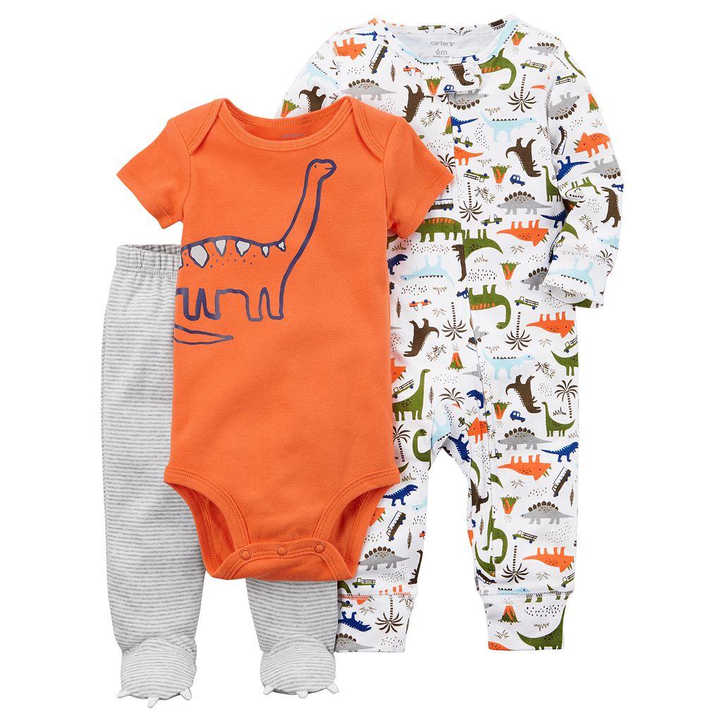 Baby Boy Carter's Printed Bodysuit, Pants, & Sleep & Play Set