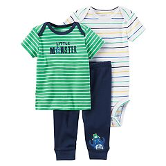 Baby Boy Carter's Bodysuit, Tee, & Pants Set