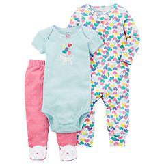 Baby Girl Carter's Kitty Bodysuit, Pants, & Printed Sleep & Play Set