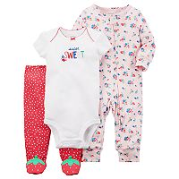Baby Girl Carter's Kitty Bodysuit, Pants, & Printed Sleep & Play Set