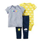 Baby Girl Carter's Bodysuit, Tee, & Pants Set