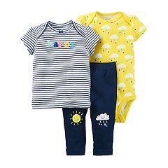 Baby Girl Carter's Bodysuit, Tee, & Pants Set