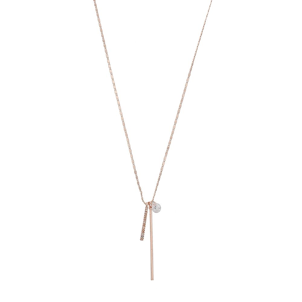 LC Lauren Conrad Multi Bar Pendant Necklace