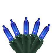 100 Blue LED Indoor / Outdoor Mini Christmas Lights