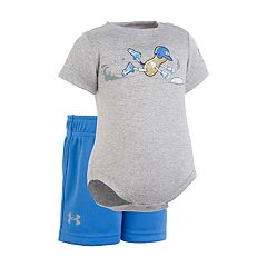 Baby Boy Under Armour Peanut Homebase Baseball Graphic Bodysuit & Shorts Set