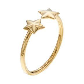 14k Gold Star Open Ring