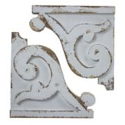 Shabby Chic Wood Wall Corbel 2-piece Set