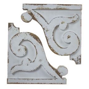Shabby Chic Wood Wall Corbel 2-piece Set