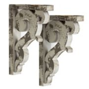 Distressed Wood Wall Corbel 2-piece Set