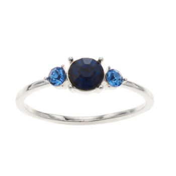 LC Lauren Conrad Blue 3-Stone Ring