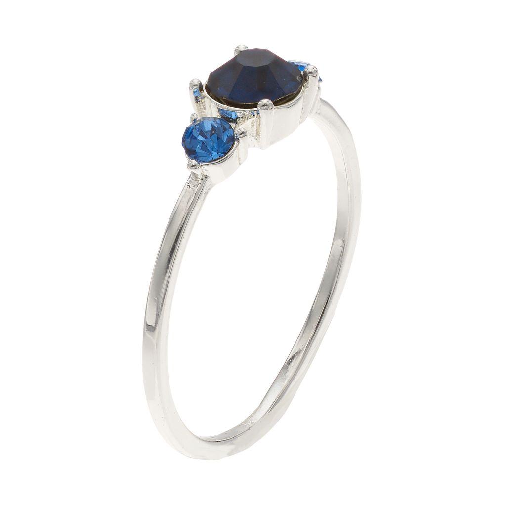 LC Lauren Conrad Blue 3-Stone Ring
