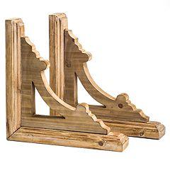 Rustic Wood Wall Corbel 2-piece Set