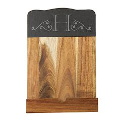 Cathy's Concepts Personalized Slate & Acacia Tablet Recipe Stand